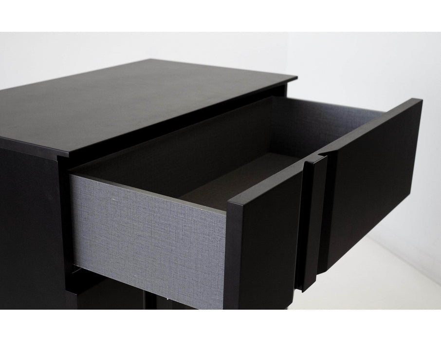 Mobital Night Table Matte Black Carbon Left Side Facing Night Table Matte Black