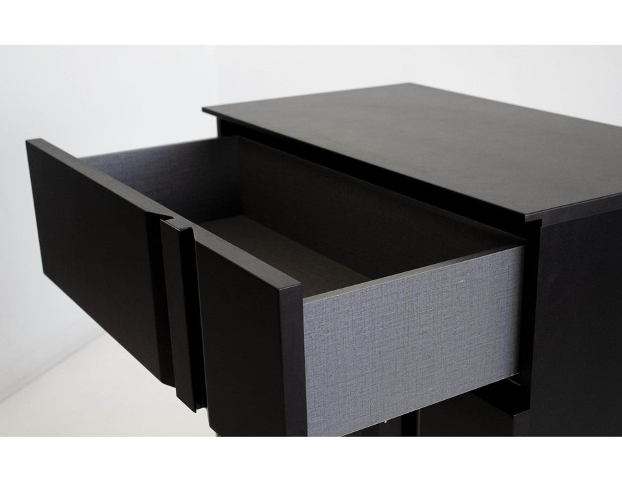 Mobital Night Table Matte Black Carbon Right Side Facing Night Table Matte Black