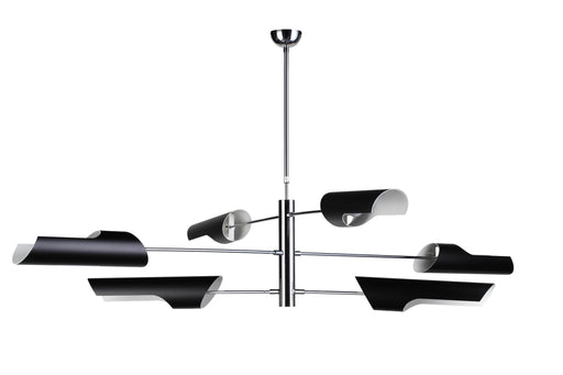 Mobital Pendant Lamp Black Mobile Pendant Lamp Chrome Coated Frame, Black Steel Lampshade