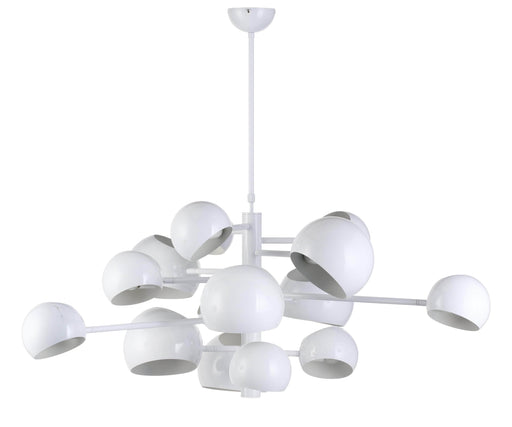 Mobital Pendant Lamp White Molecule 14-Head Pendant Lamp High Gloss White