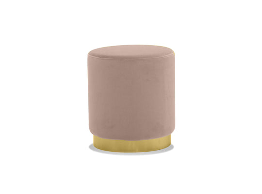 Mobital Pillbox Low Pouf with Electroplated Gold Base
