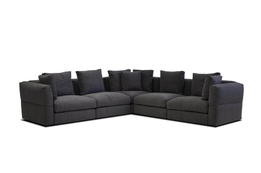 Mobital Sectional Peppercorn Flex Sectional Peppercorn Chenille Fabric