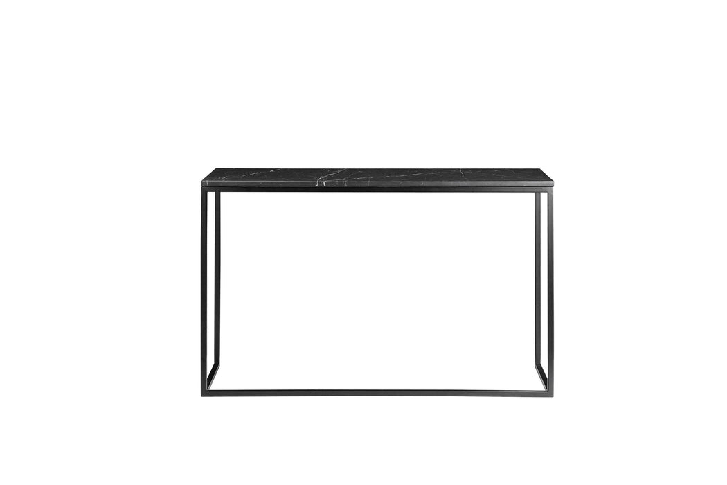 Mobital Sofa Table Black Onix Sofa Table Black Nero Marquina Marble With Black Powder Coated Steel