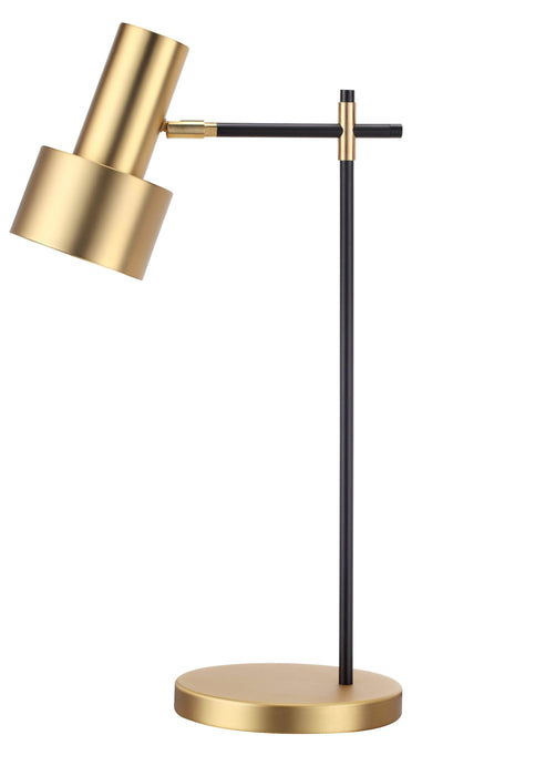Mobital Magnum Table Lamp with Brass Plated Steel Shade and Matte Black Stem