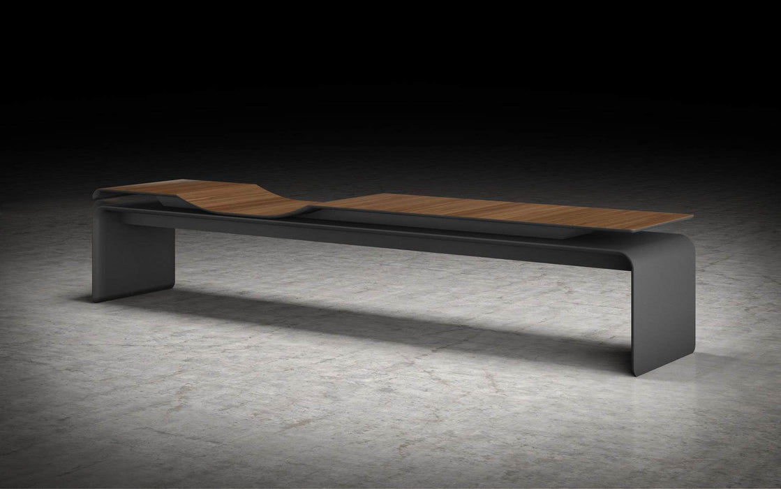 Pending - Modloft Benches Norbury Bench in Walnut and Graphite
