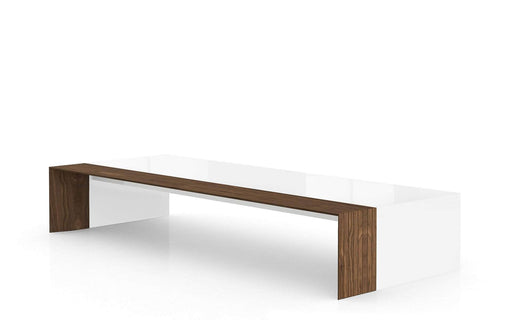 Pending - Modloft Coffee Tables Beckenham Coffee Table in Glossy White and Walnut