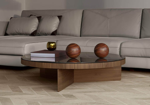 Pending - Modloft Coffee Tables Longford Coffee Table in Walnut and Bronze