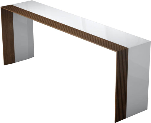 Pending - Modloft Consoles Beckenham Console in Glossy White and Walnut