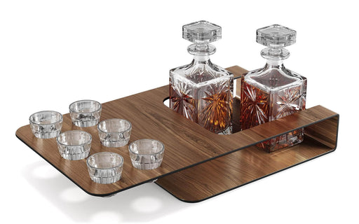 Pending - Modloft Decor Endell Spirits Server in Walnut over Brass