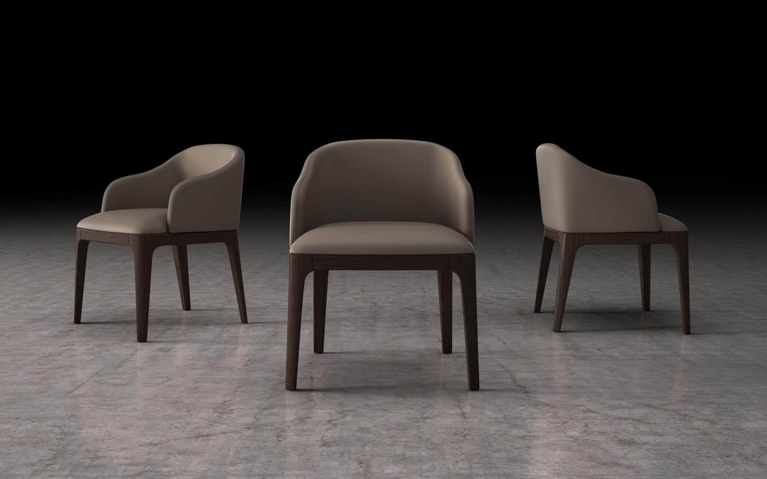 Pending - Modloft Dining Chairs Castle Gray Eco Leather Wooster Dining Arm Chair - Available in 2 Colours