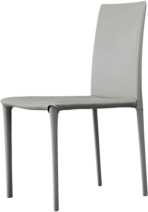 Pending - Modloft Dining Chairs Mineral Gray Reclaimed Leather Varick Dining Chairs - Available in 3 Colours