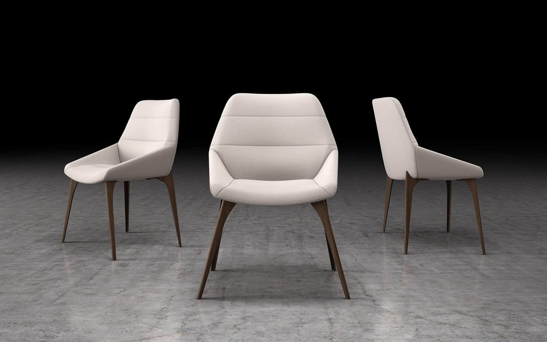 Pending - Modloft Dining Chairs White Sand Fabric Rutgers Dining Chair - Available in 3 Colours