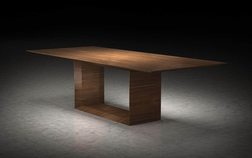 "Pending - Modloft Dining Tables Walnut Greenwich 106"" Dining Table - Available in 2 Colours"