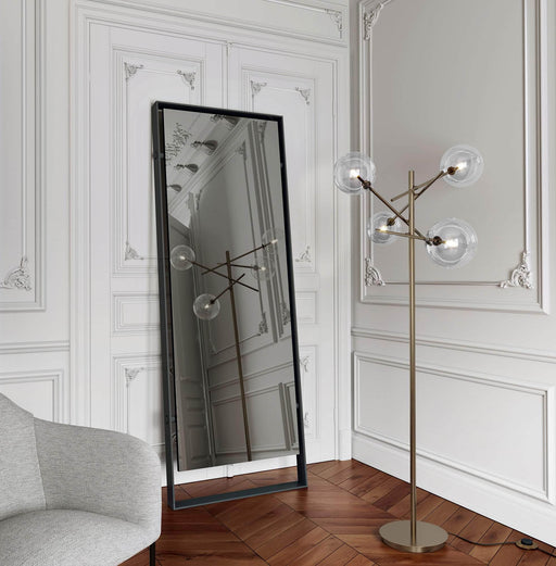 "Pending - Modloft Mirrors Hackney 87"" Mirror in Graphite Steel"