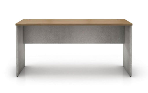 Pending - Modloft Office Broome Desk in Weathered Concrete on Latte Walnut