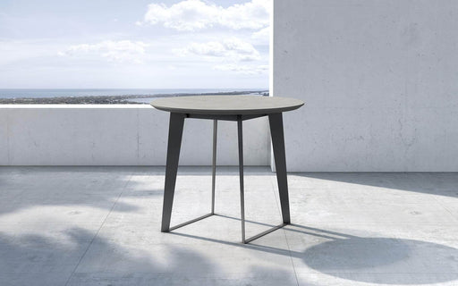 "Pending - Modloft Outdoor Amsterdam 36"" Outdoor Bistro Table in Gray Concrete"