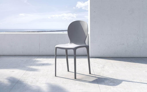 Pending - Modloft Outdoor Blue Gray Vieste Stacking Dining Chairs - Available in 4 Colours