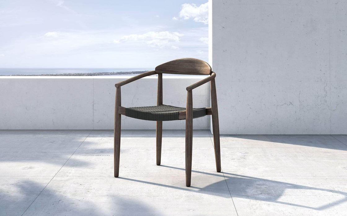Pending - Modloft Outdoor Classica Stacking Outdoor Dining Chair in Dark Gray Cord