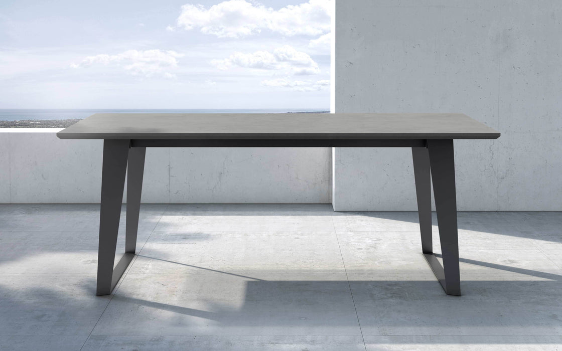"Pending - Modloft Outdoor Gray Concrete Amsterdam 79"" Outdoor Dining Table - Available in 2 Colours"