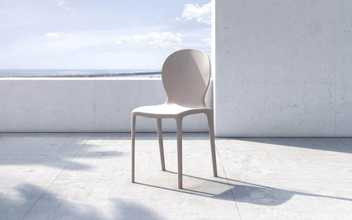 Pending - Modloft Outdoor Mother of Pearl Vieste Stacking Dining Chairs - Available in 4 Colours