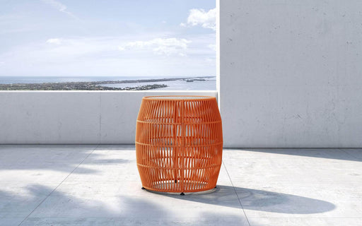 Pending - Modloft Outdoor Orange Cord Volta Outdoor Accent Table - Available in 3 Colours