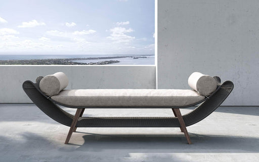 Pending - Modloft Outdoor Reverie Outdoor Bench in Feather Gray Fabric