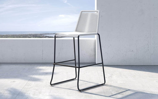 Pending - Modloft Outdoor White Cord Barclay Stacking Counter Stool - Available in 8 Colours
