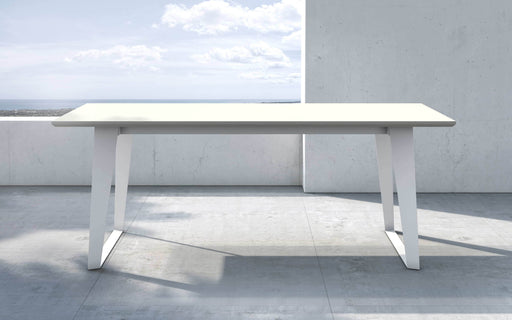 "Pending - Modloft Outdoor White Sand Concrete Amsterdam 79"" Outdoor Dining Table - Available in 2 Colours"