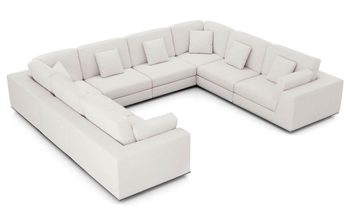 Pending - Modloft Sectionals Chalk Fabric Perry Sectional U Sofa - Available in 2 Colours