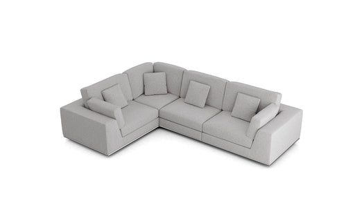 Pending - Modloft Sectionals Gris Fabric Perry Sectional 2 Arm Corner Compact Sofa - Available in 2 Colours