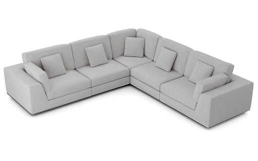 Pending - Modloft Sectionals Gris Fabric Perry Sectional 2 Arm Corner Sofa - Available in 2 Colours