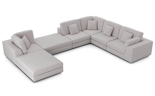 Pending - Modloft Sectionals Gris Fabric Perry Sectional 2 Corner Sofa - Available in 2 Colours