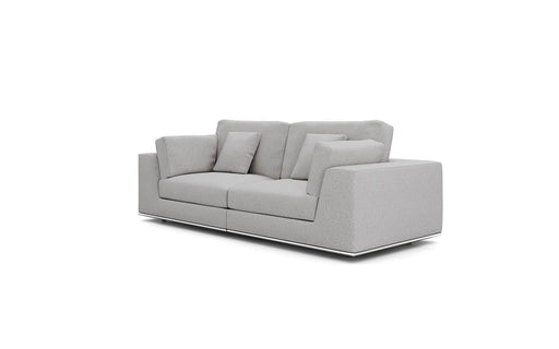 Pending - Modloft Sectionals Gris Fabric Perry Sectional 2 Seat Sofa - Available in 2 Colours