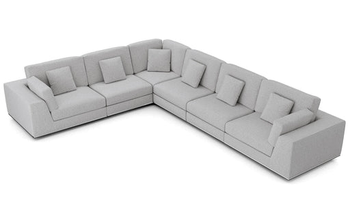 Pending - Modloft Sectionals Gris Fabric Perry Sectional Large 2 Arm Corner Sofa - Available in 2 Colours