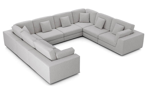 Pending - Modloft Sectionals Gris Fabric Perry Sectional U Sofa - Available in 2 Colours