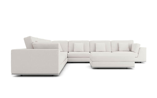 Pending - Modloft Sectionals Perry Sectional Large 2 Arm Corner Sofa with Ottoman - Available in 2 Colours