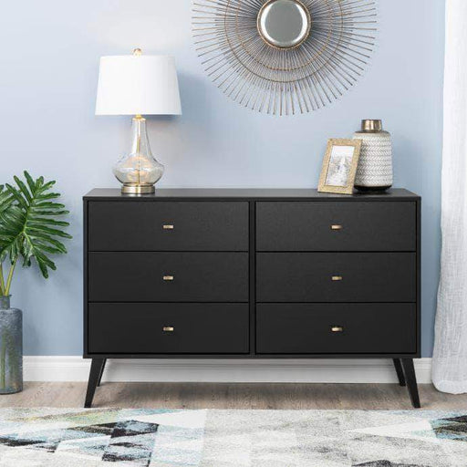 Pending - Modubox Black Milo Mid Century Modern 6-drawer Dresser - Multiple Colours Available