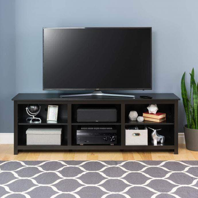 Pending - Modubox Black Sonoma 72 inch TV Stand