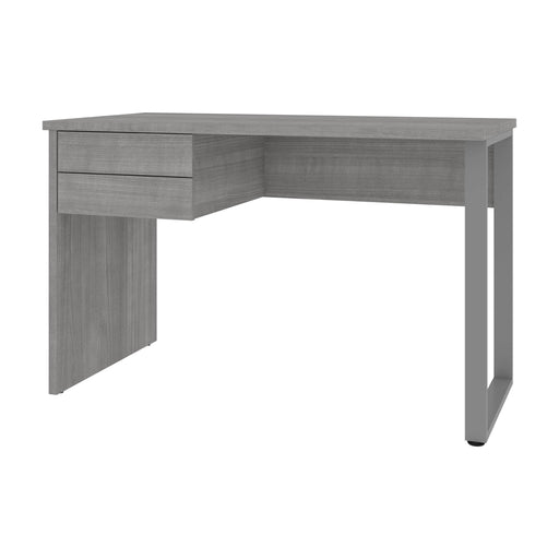 Pending - Modubox Desks Platinum Gray Solay 48W Small Table Desk With U-Shaped Metal Leg - Available in 2 Colours
