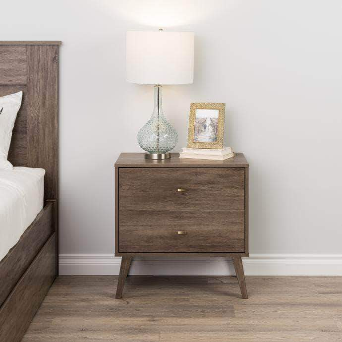 Pending - Modubox Drifted Grey Milo Mid Century Modern 2-drawer Nightstand - Multiple Colours Available