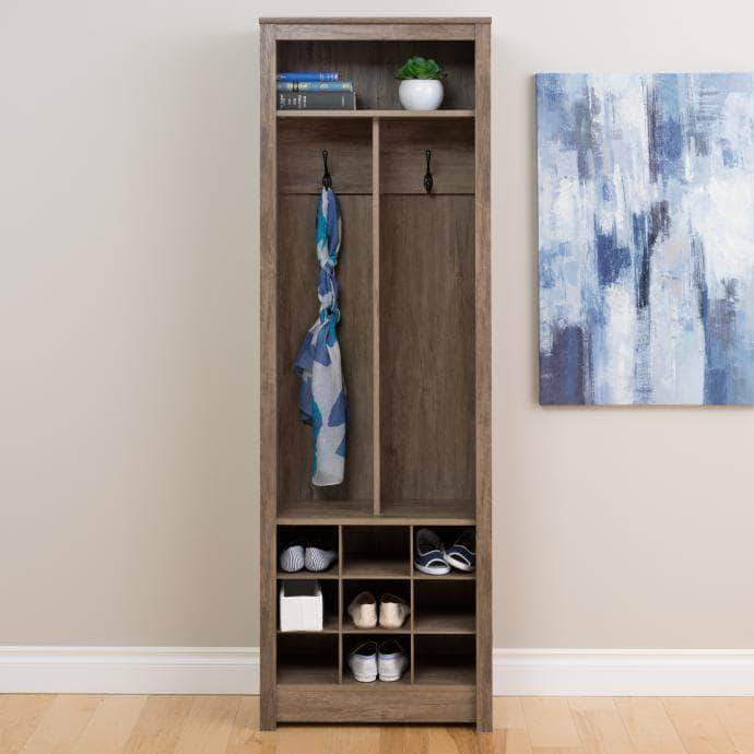 Pending - Modubox Drifted Grey Space-Saving Entryway Organizer with Shoe Storage