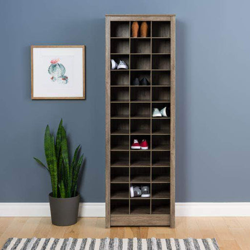 Pending - Modubox Drifted Grey Space-Saving Shoe Storage Cabinet - Multiple Options Available