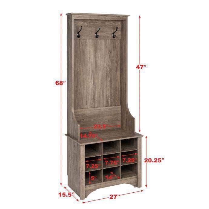 Pending - Modubox Narrow Hall Tree with 9 Shoe Cubbies