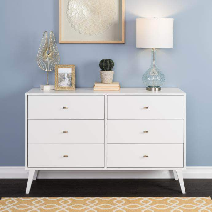 Pending - Modubox White Milo Mid Century Modern 6-drawer Dresser - Multiple Colours Available