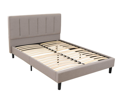 Pending - Primo International Full Ann Platform bed in Stone Linen - Available in 2 Sizes