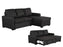 Pending - Primo International Nunzio Sleeper Sectional Sofa in Black