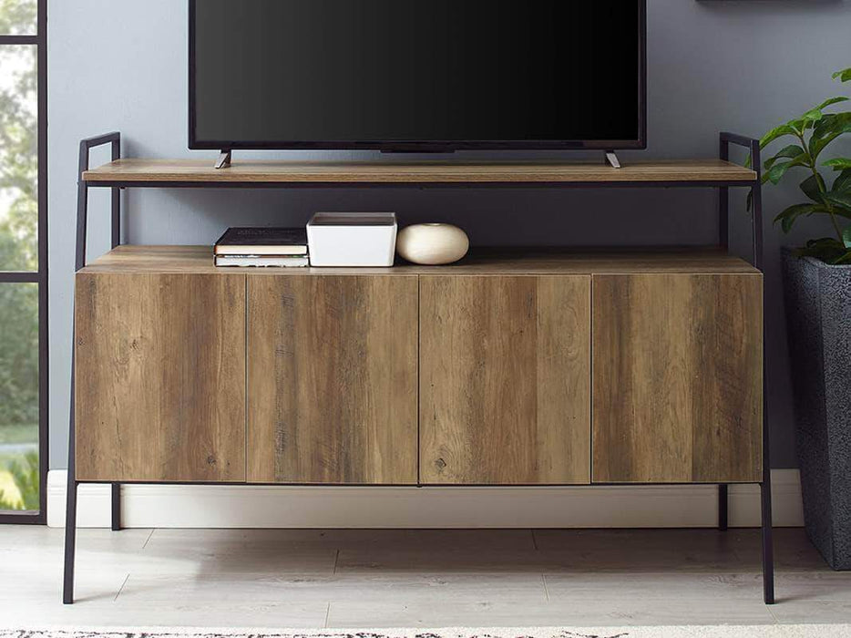 Pending - Review Arlo 52 inch Metal and Wood TV Console