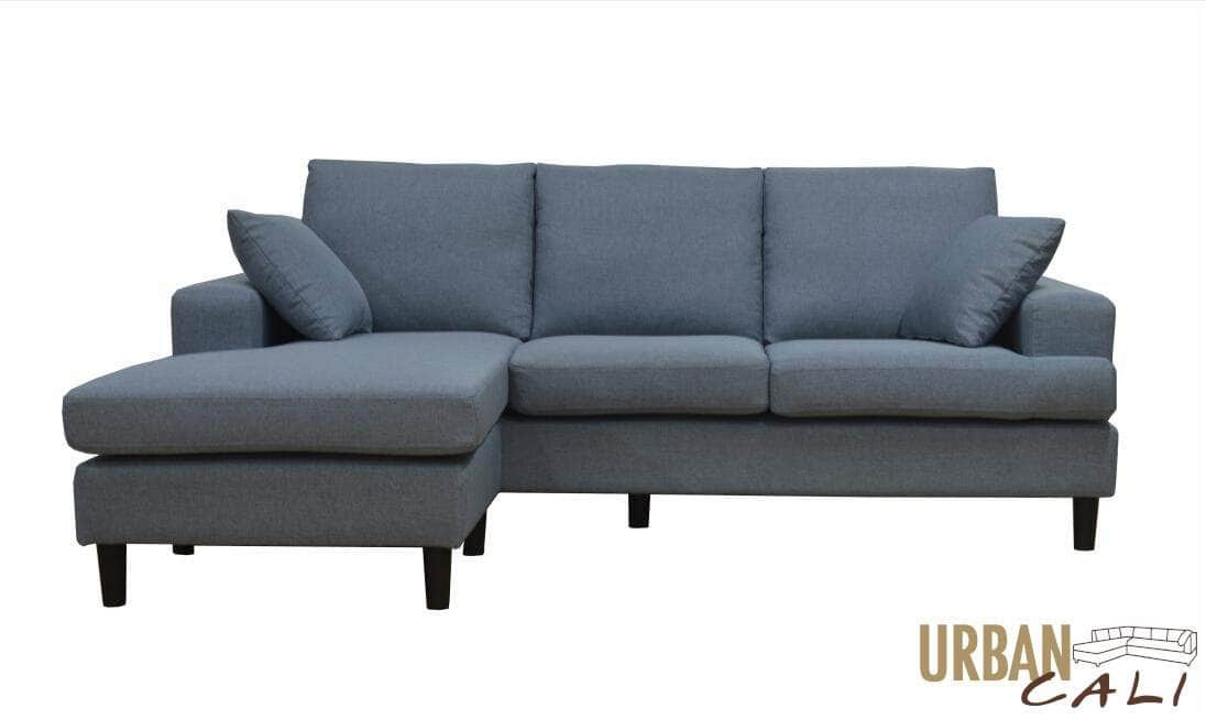 Pending - Urban Cali Sophia Sectional Sofa with Reversible Chaise in Grey Linen