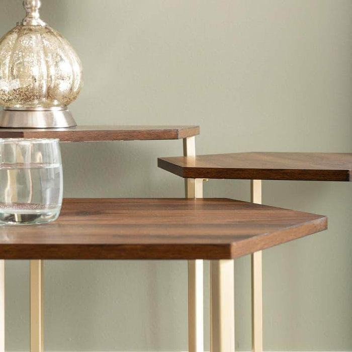 Pending - Walker Edison Hex Nesting Tables - Available in 2 Colours