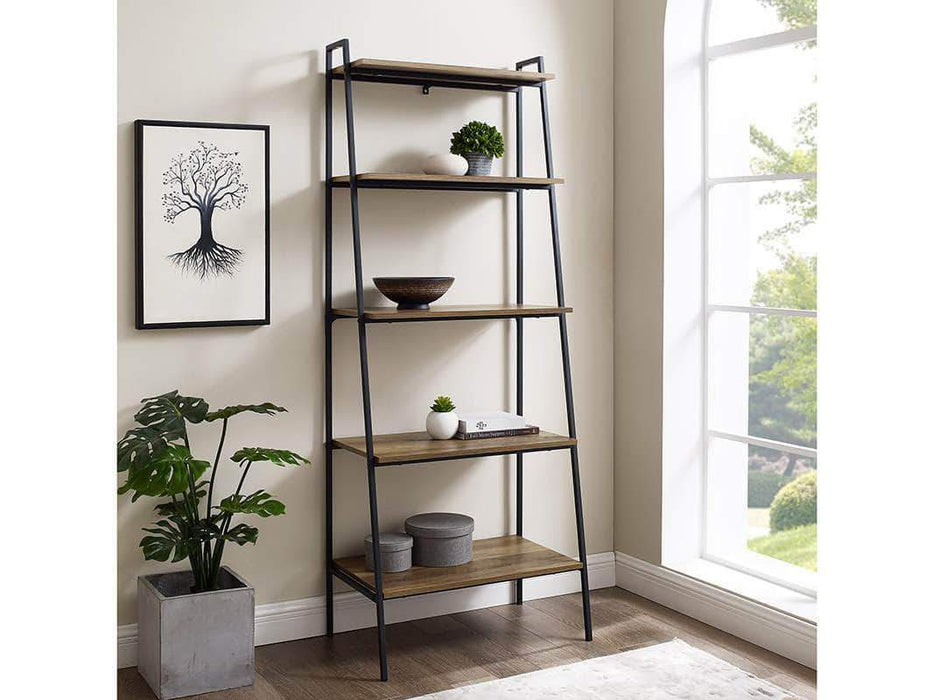Pending - Walker Edison Reclaimed Barnwood Arlo Bookshelf - Available in 3 Colours